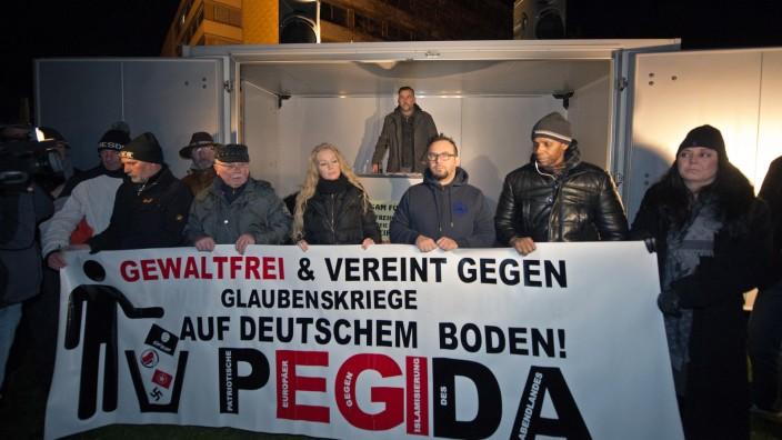 Breites Bündnis gegen Pegida Demonstration