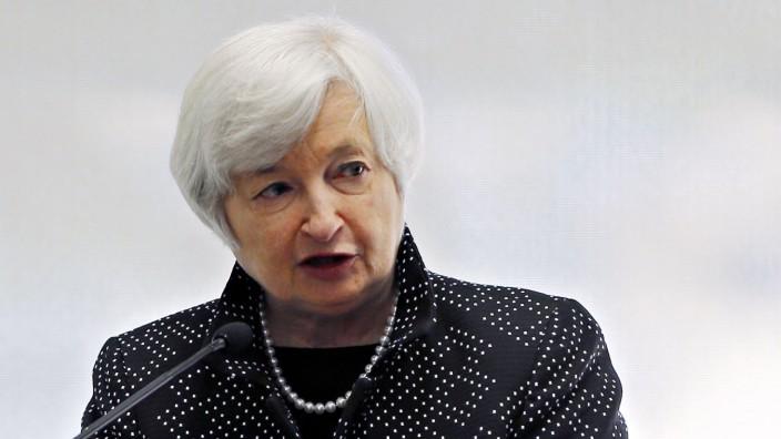 File photo of U.S. Federal Reserve Chair Yellen speaking in Boston