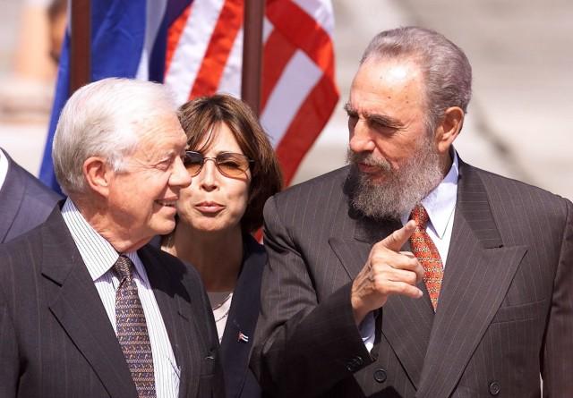 FORMER PRESIDENT CARTER TALKS WITH CUBAN PRESIDENT CASTRO