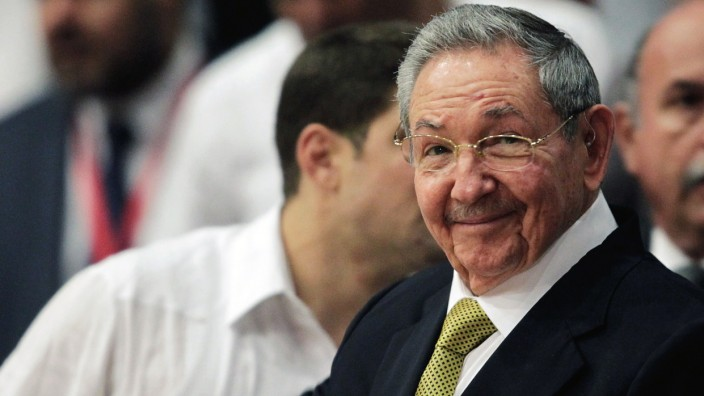 Cuba's President Raul Castro attends the closing ceremony of the 10th Bolivarian Alternative for the Americas (ALBA) alliance summit in Havana