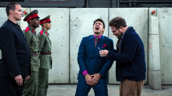 "Seth Rogen und James Franco in ""The Interview""."
