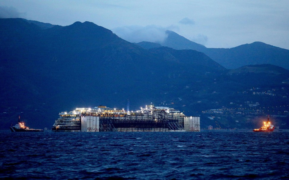 Costa Concordia in Genoa