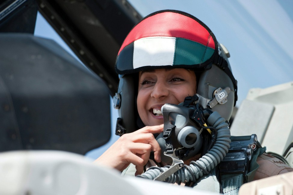 The first female pilot in the UAE airforce conducts strikes
