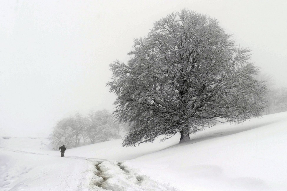 Snowstorm in northern Spain