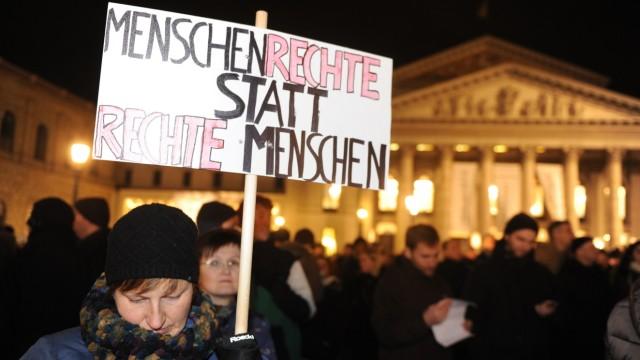 Kundgebung gegen Pegida, München