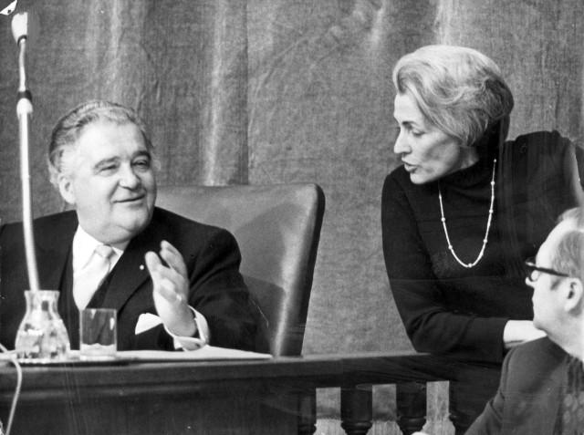 Dr. Hildegard Hamm-Brücher mit Rudolf Hanauer, 1970