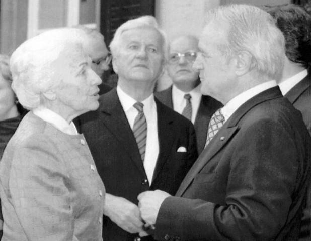 Hildegard Hamm-Brücher in Gespräch mit Johannes Rau, 1994