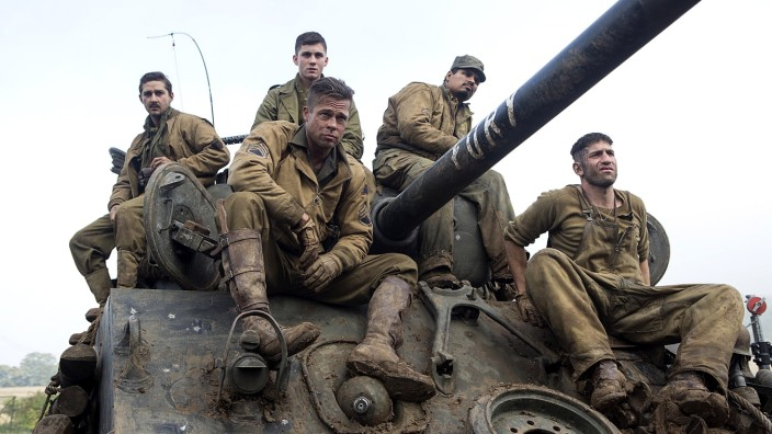 FURY, Logan Lerman, Michael Pena, Brad Pitt, Jon Bernthal, Shia LaBeouf, 2014. ©Columbia; Fury