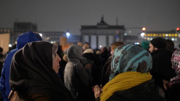Demonstration gegen die Anti-Islam-Bewegung Pegida