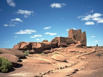 Zeugnisse uralter Indianer-Kultur im Wupatki-Monument nahe Flagstaff, ddp