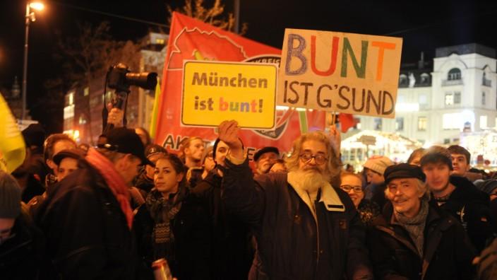 Anti-Pegida-Demonstration in München