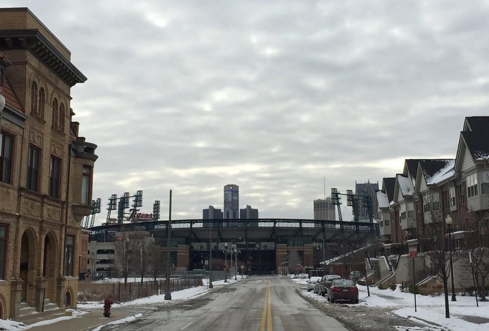 Blick auf Detroits Comerica Park