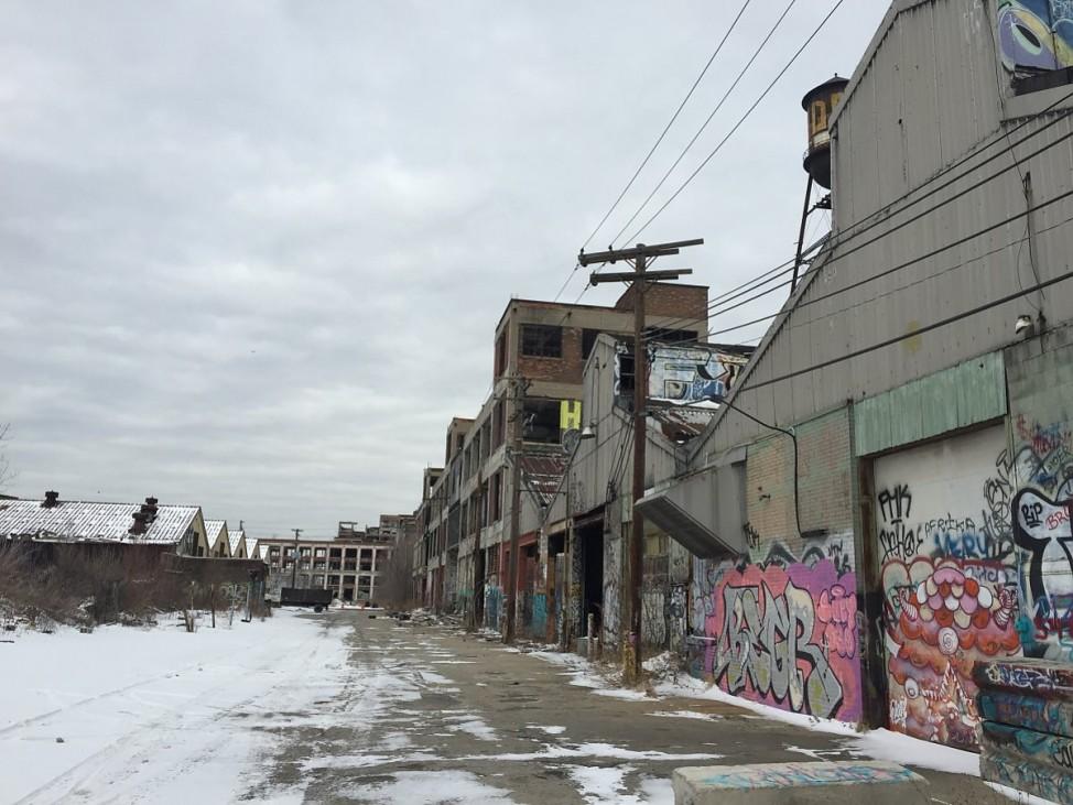 Verfallene Wohnsiedlung in Detroit