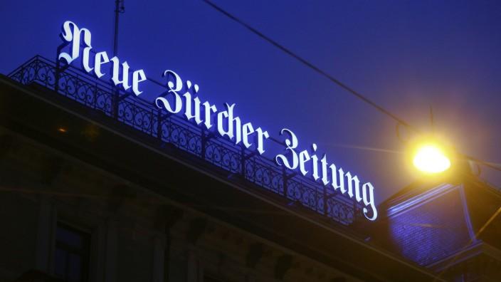 Logo der Neuen Zürcher Zeitung in Zürich