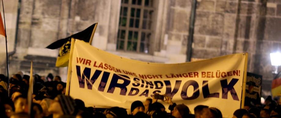 Pegida Kundgebung in Dresden