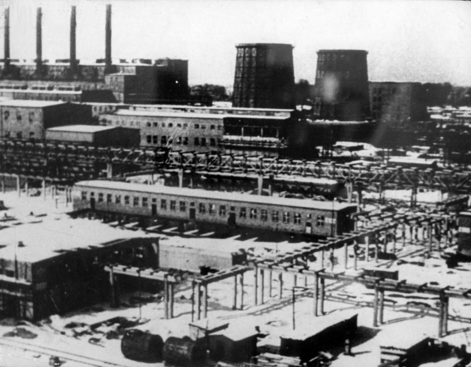 Giftgas-Produktionsstätte der IG Farben in Auschwitz-Monowitz