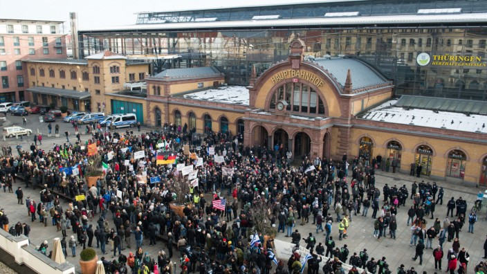 Erste Pegada-Kundgebung in Erfurt