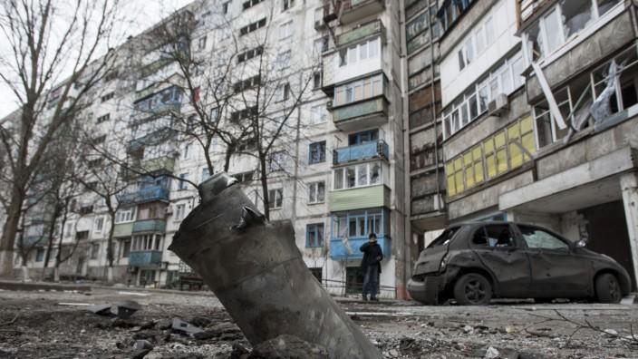 Raketenangriff auf Mariupol, Ukraine