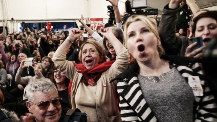 Exit Poll Results Are Declared In The Greek General Election