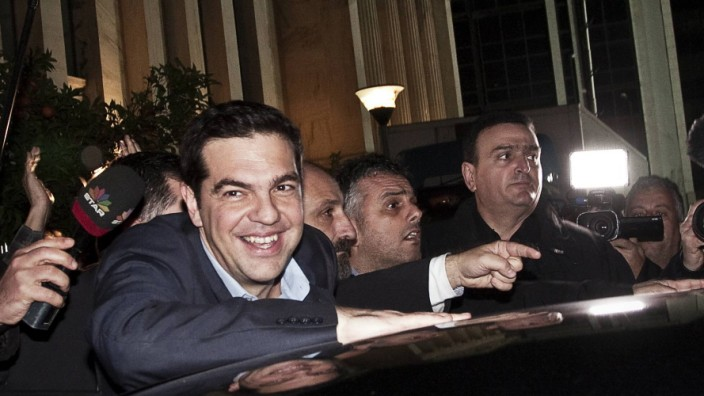 Alexis Tsipras wins the Greek parliamentary election 25 01 2015 Greece Athens January 25th 2015