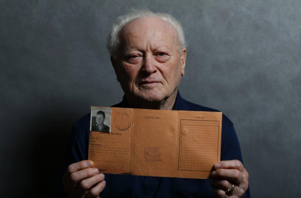 Auschwitz death camp survivor Janos Forgacs poses for a portrait in Budapest