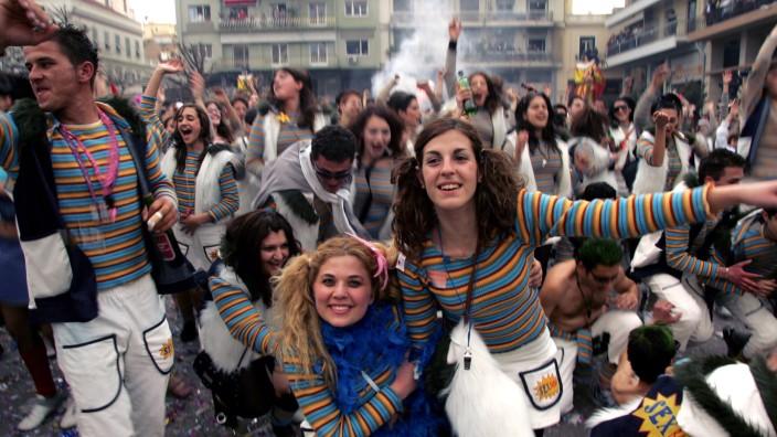 Karneval in Patras, Griechenland, im Jahr 2006.
