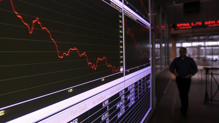 Greek stock index plunges in Athens