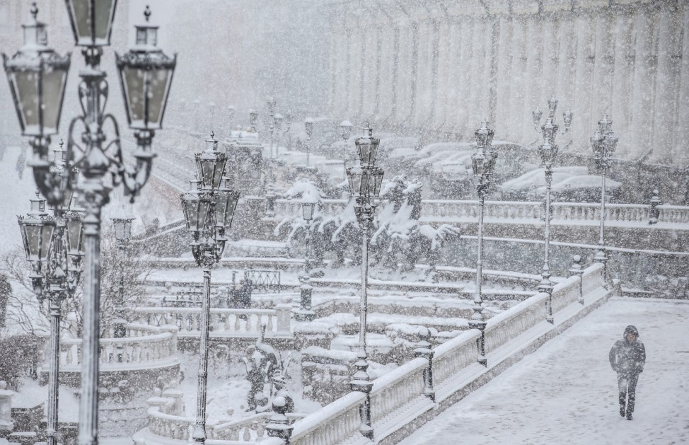 Heavy snowfall in Moscow