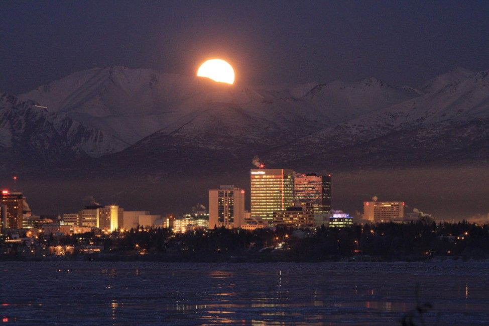 Anchorage Moonrise