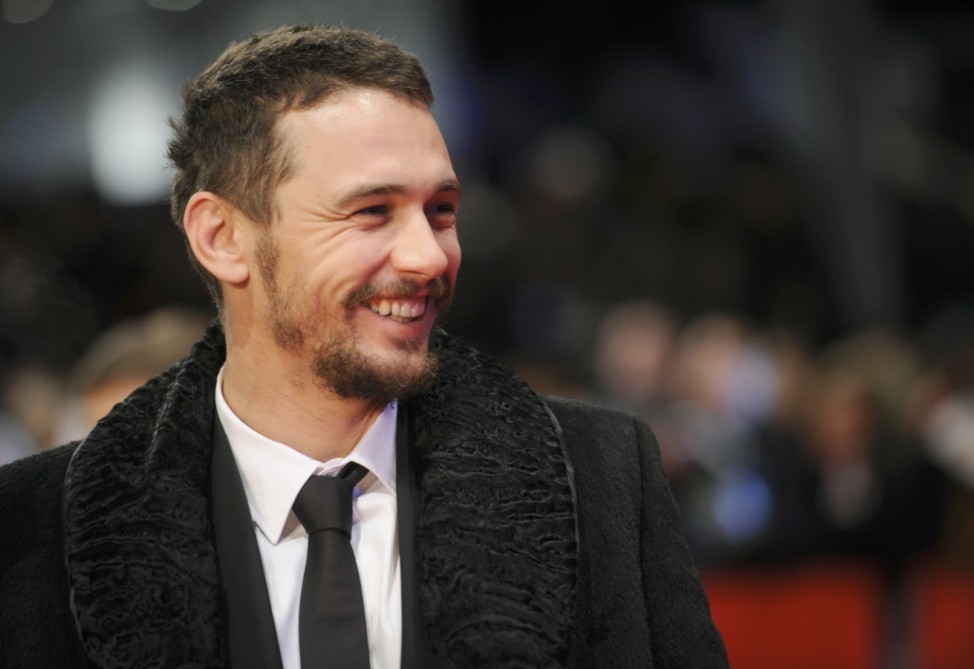 Actor Franco arrives for screening during opening gala of 65th Berlinale International Film Festival in Berlin