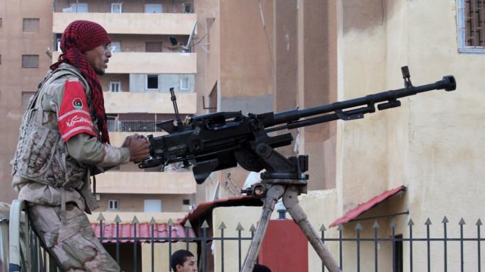 Kämpfer der libyischen Regierungstruppen