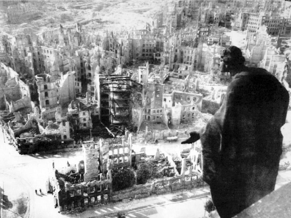 Zerstörte Dresdener Innenstadt, 1945