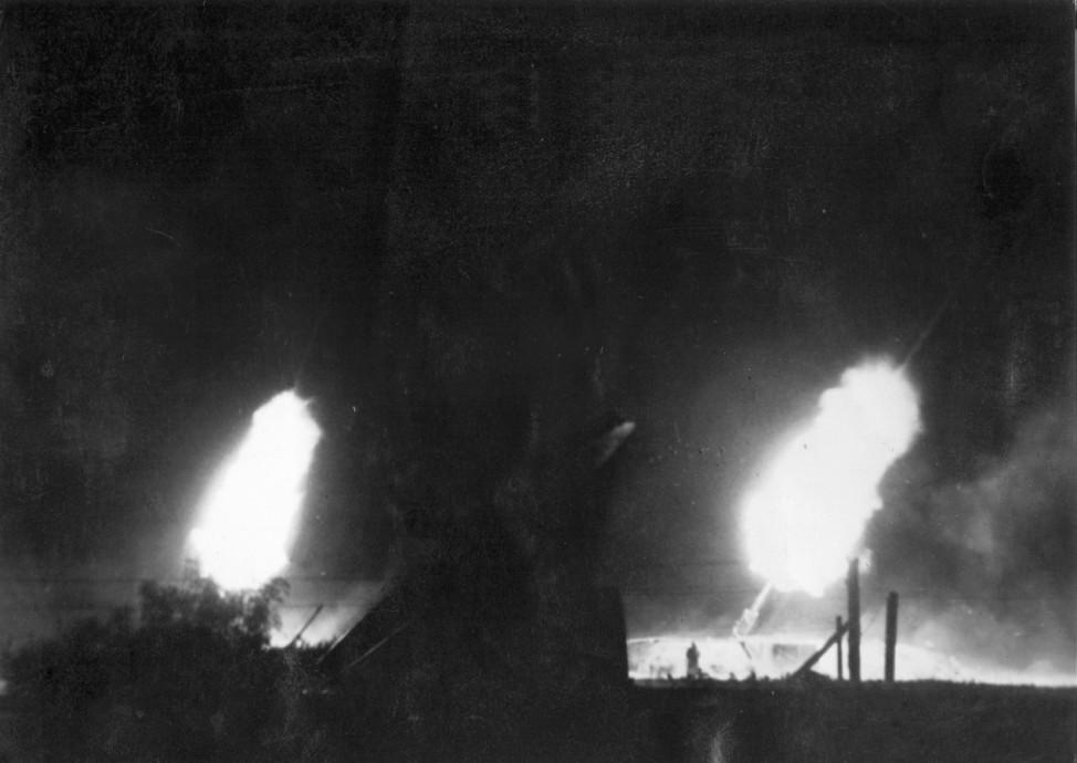 Schwere Flakbatterie in Deutschland, 1944