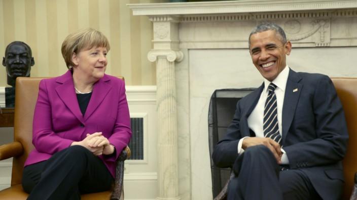 Merkel in Washington DC