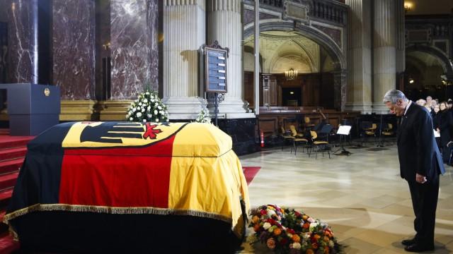 State Funeral of German President von Weizsaecker