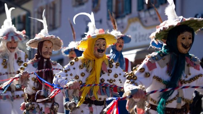 Traditioneller Fasching in Mittenwald