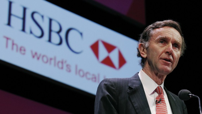 File photograph of group chairman of HSBC Holdings Green speaking at the Institute of Directors annual convention at the Albert Hall in London