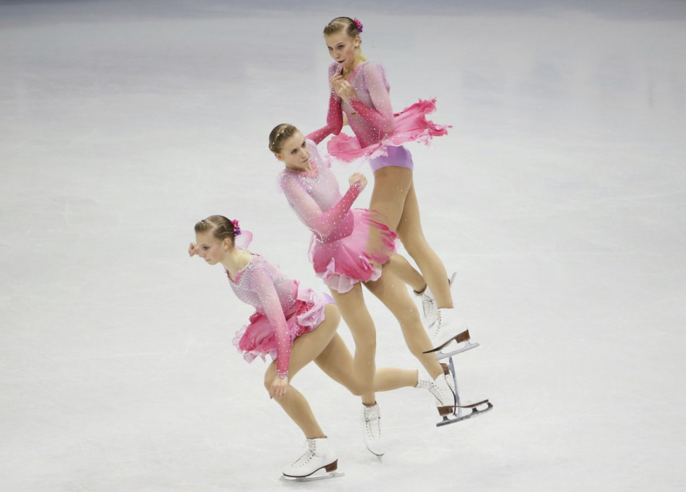 Edmunds performs during the ladies free skating program competition at the ISU Four Continents Figure Skating Championships in Seoul