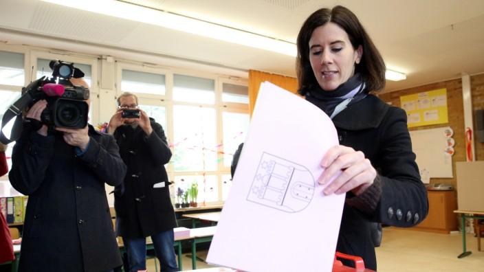 Bürgerschaftswahl - Stimmabgabe Katja Suding