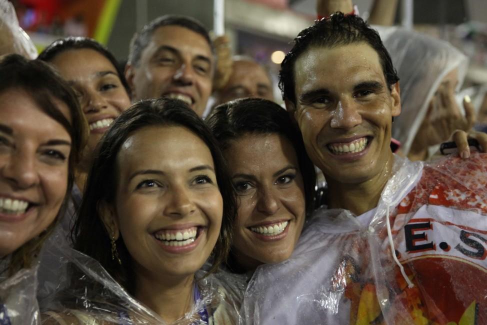 Rafael Nadal beim Karneval in Rio de Janeiro