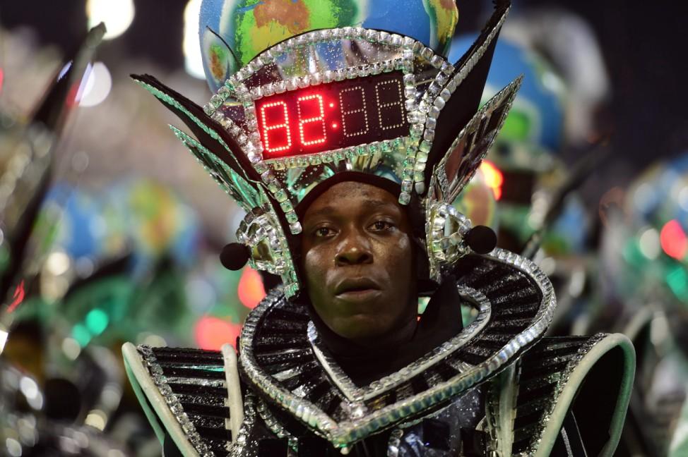 Karneval in Rio de Janeiro, Brasilien, Carnaval, Sambódromo, Samba, Umzug der Sambaschule Mocidade