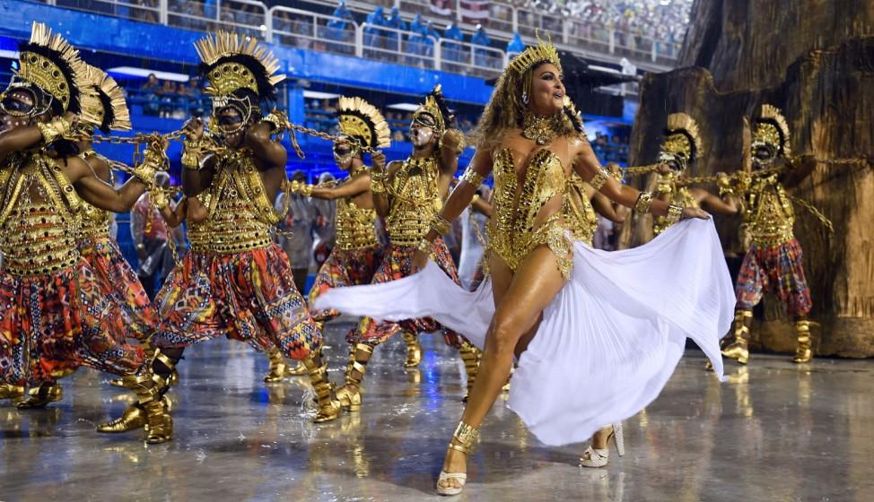 Karneval in Rio de Janeiro, Brasilien, Carnaval, Sambódromo, Samba, Umzug der Sambaschulen