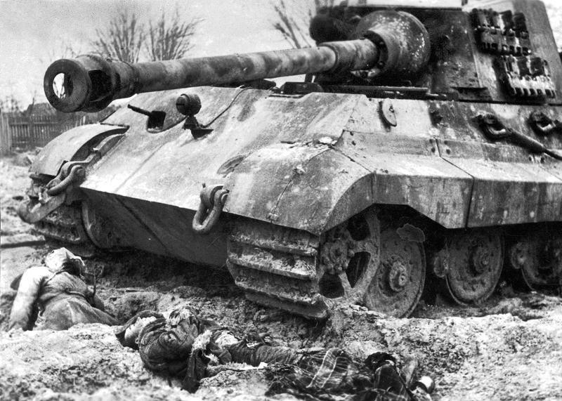 Deutscher Königstiger; Bildergalerie Ostfront 1945