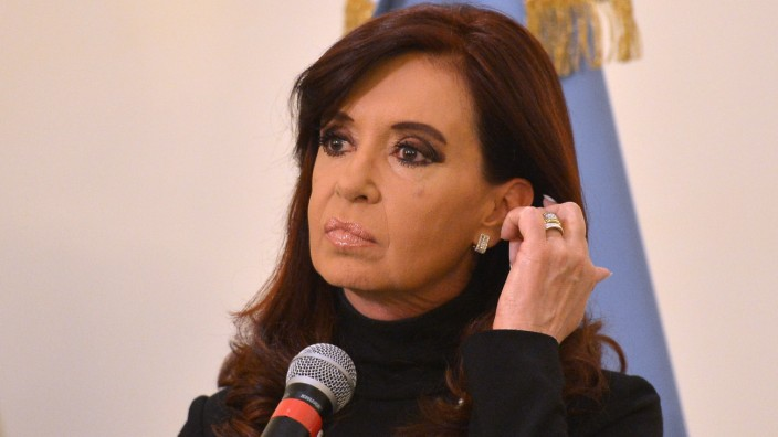 Argentina's President Cristina Fernandez de Kirchner speaks during a press conference on March 18, 2013 in Rome, on the eve of Pope Francis inauguration mass. Argentine prosecutors formally accused Pr