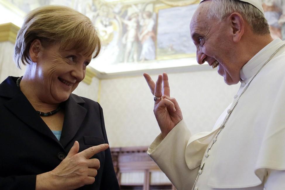 Merkel zu Privataudienz bei Papst Franziskus