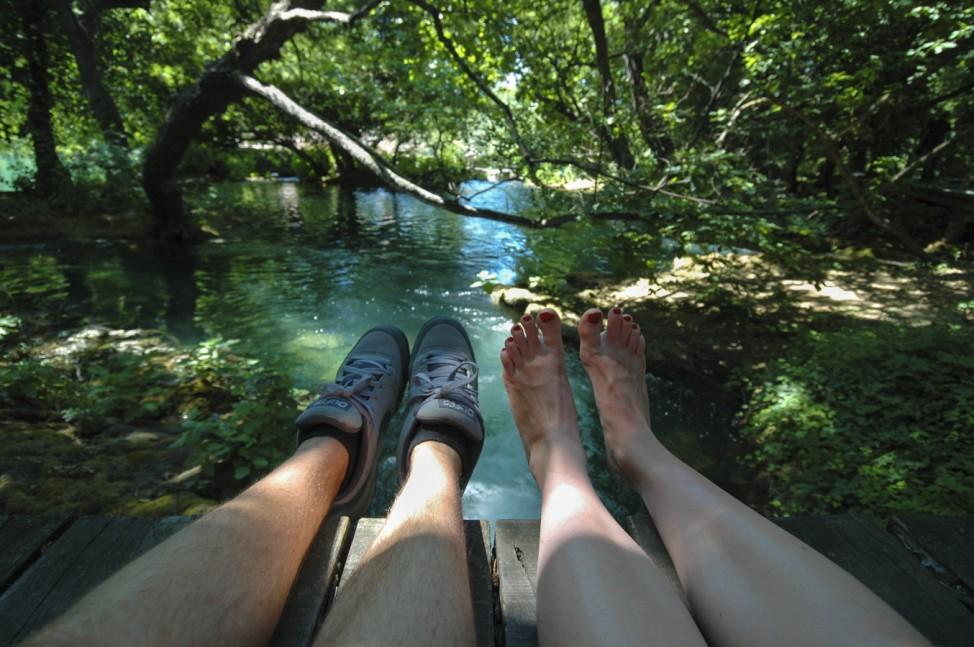 Feet First - nur für die Reise (Reise zum Bild)