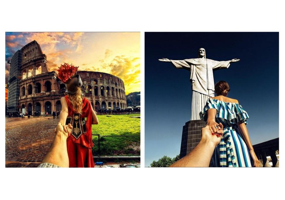 'Follow me' by Murad Osmann -  für die Reise zum Bild