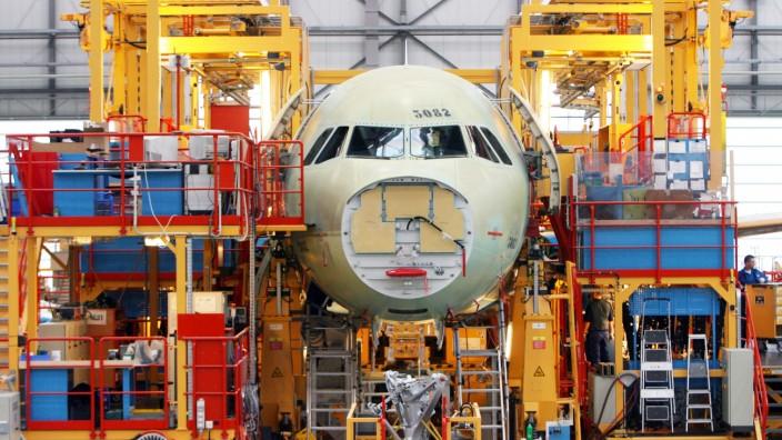 Produktion Airbus-Werk Hamburg