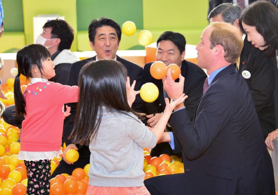 Britain's Prince William Duke of Cambridge in Japan