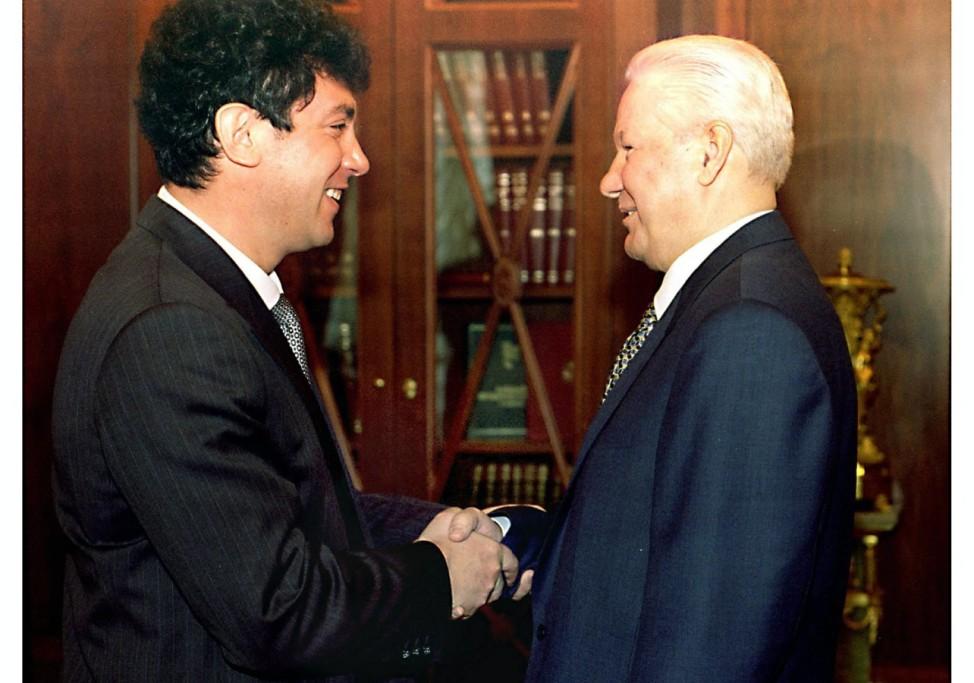 Jelzin mit Nemzow